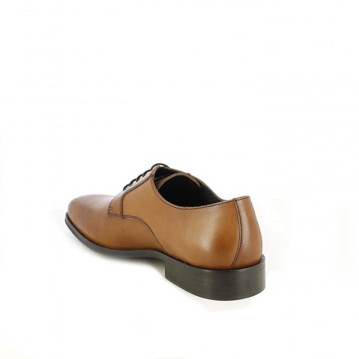 Sabates vestir BE COOL bluchers marrons de pell amb cordons - Querol online