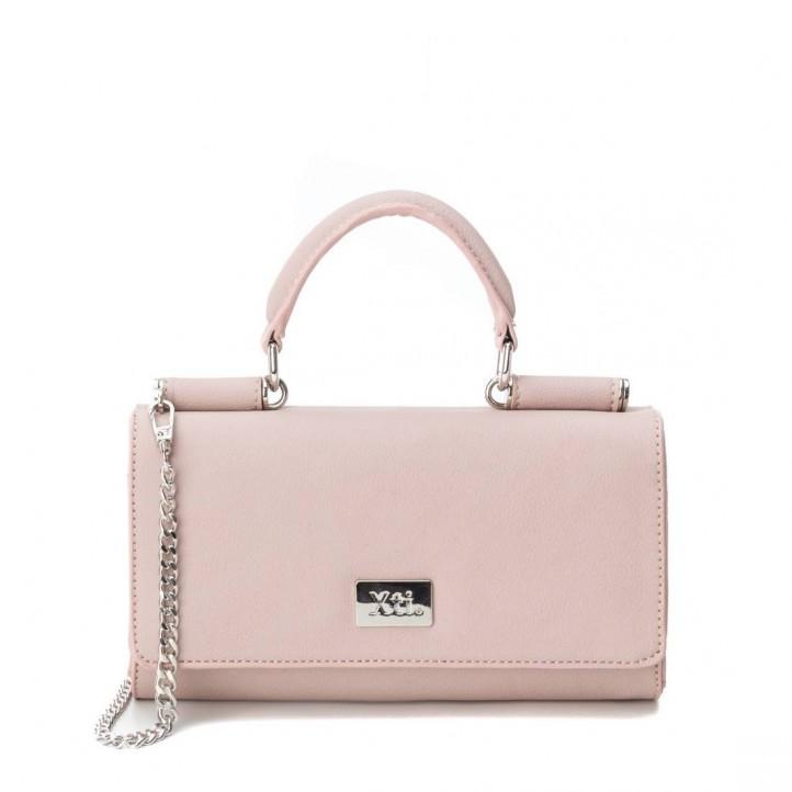 Complementos Xti bolso rosa con cadena metálica y asa - Querol online