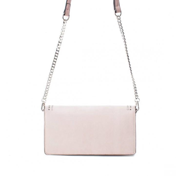 Complementos Xti bolso marrón de mano con cadena metálica - Querol online