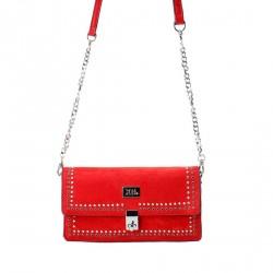 Complementos Xti bolso rojo de mano con cadena metálica - Querol online