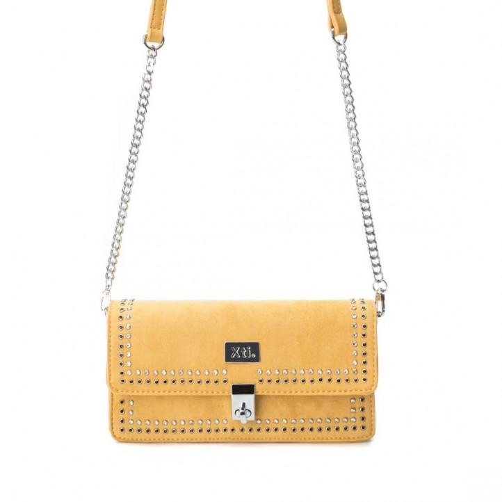 Complementos Xti bolso amarillo de mano con cadena metálica - Querol online