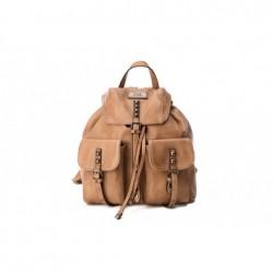 Complementos Xti mochila marrón con bolsillos y tachuelas - Querol online
