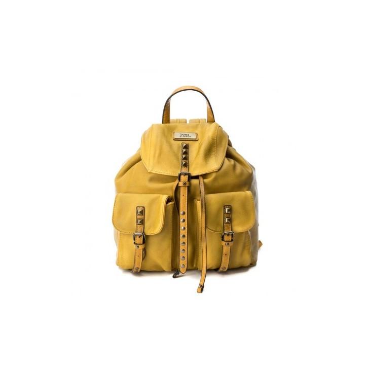 Complementos Xti mochila amarilla con bolsillos y tachuelas - Querol online