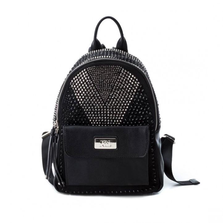 Complementos Xti mochila negra de antelina con tachuelas - Querol online