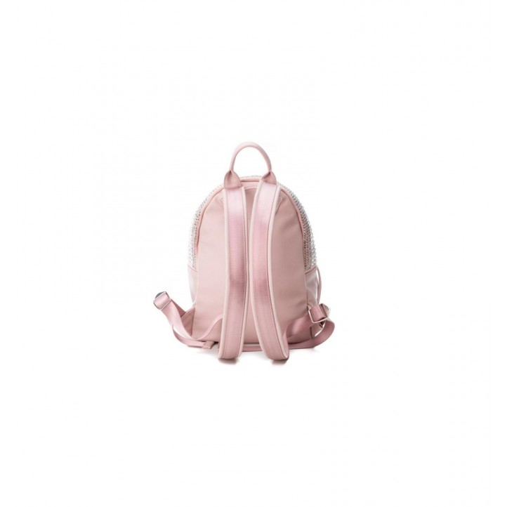 Complementos Xti mochila rosa de antelina con tachuelas - Querol online
