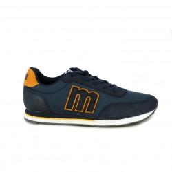 Zapatillas deportivas Mustang azul marino con detalle trasero - Querol online