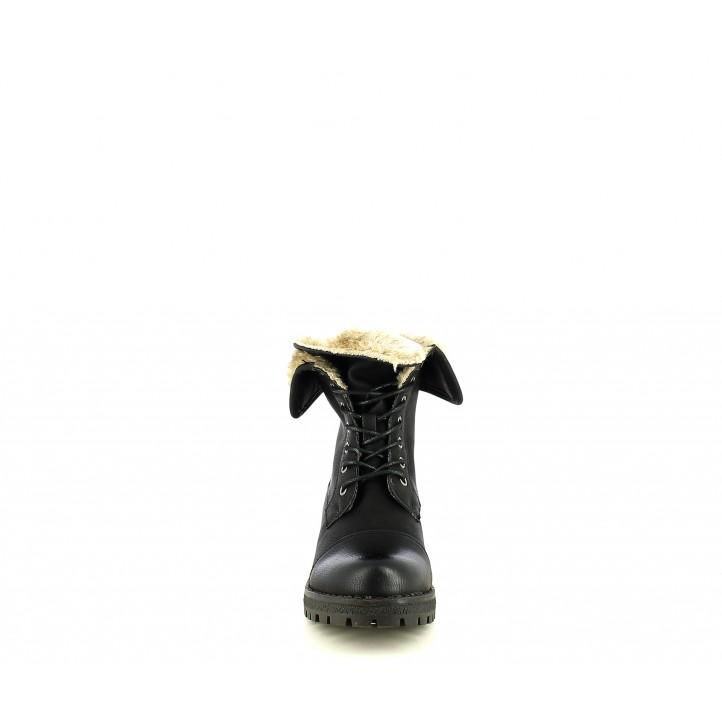 Botins Owel negre amb pèl a l´interior - Querol online