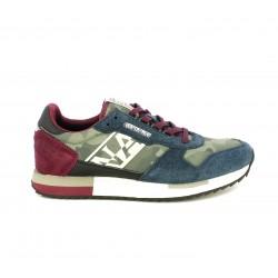 Zapatillas deportivas Napapijri rojas y azules con estampado militar - Querol online