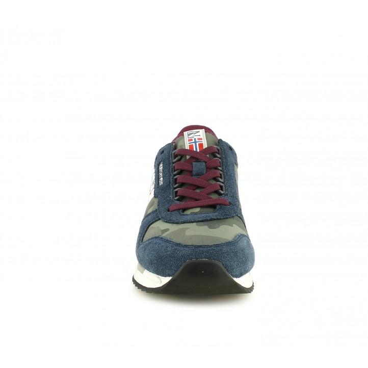 Zapatillas deportivas Napapijri estampado militar con tonos en azul - Querol online