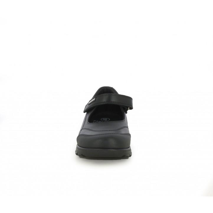 Merceditas Pablosky de piel negras con velcro - Querol online
