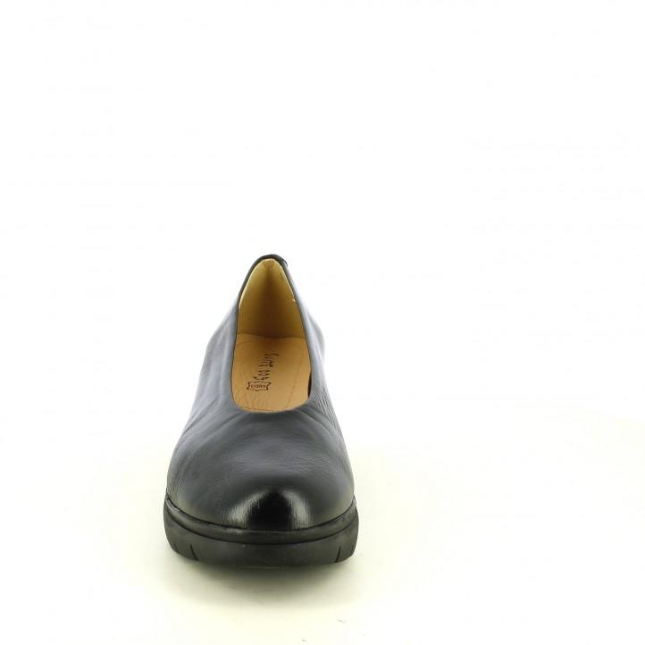 Cuñas Suite009 negras de piel - Querol online