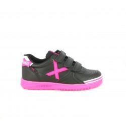 Zapatillas deporte MUNICH g3 negras y rosas fluorescente