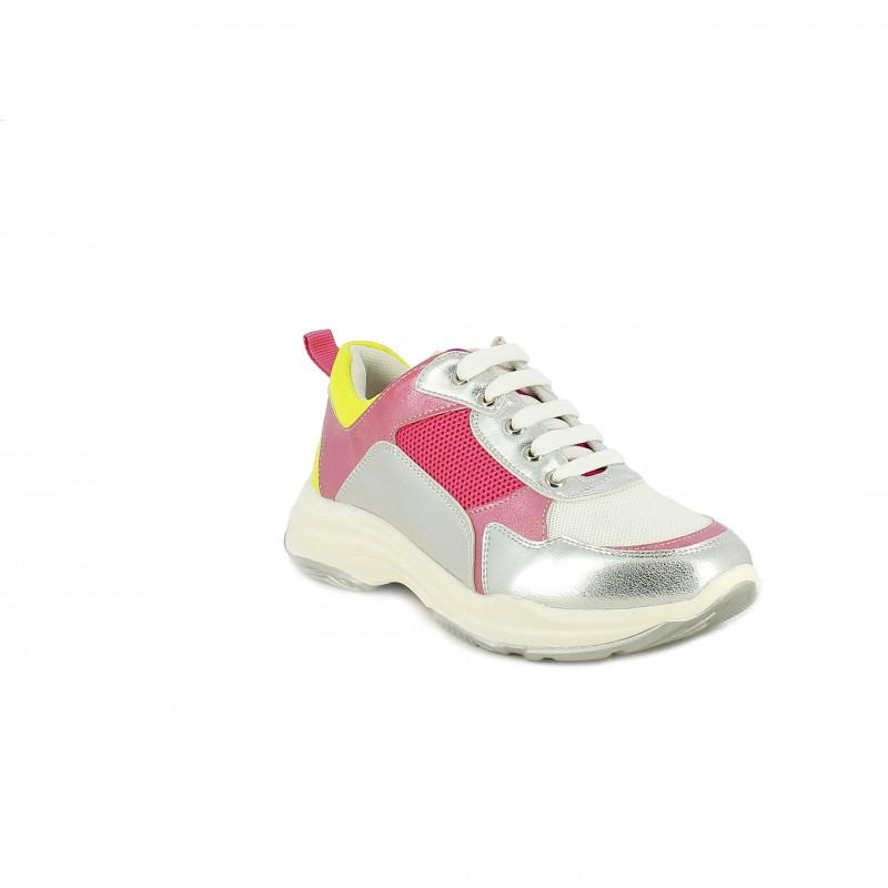 comprar online 536be a5a50 Zapatillas deporte QUETS! grises y rosas con cordones