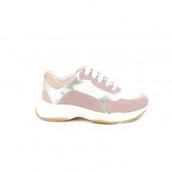 Zapatillas deporte QUETS! blancas y lilas con cordones