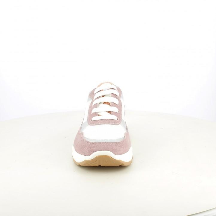 Sabatilles esport QUETS! blanques i liles amb cordons - Querol online