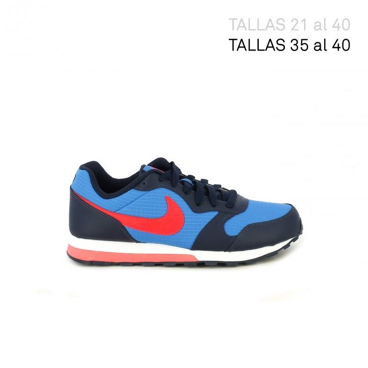 Sabatilles esport Nike runner 2 blaves i vermelles - Querol online