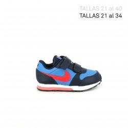 Zapatillas deporte Nike runner 2 azules y rojas