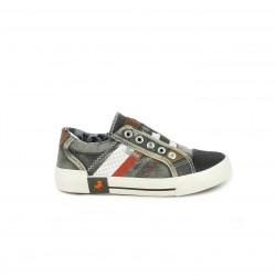 Zapatillas lona Lois grises tejano con cordones - Querol online