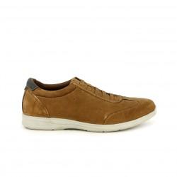 Zapatos sport Vicmart marrones de piel y cordones elásticos