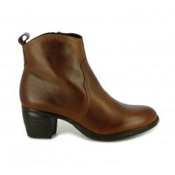 Botines tacón Redlove marrones estilo cowboy - Querol online