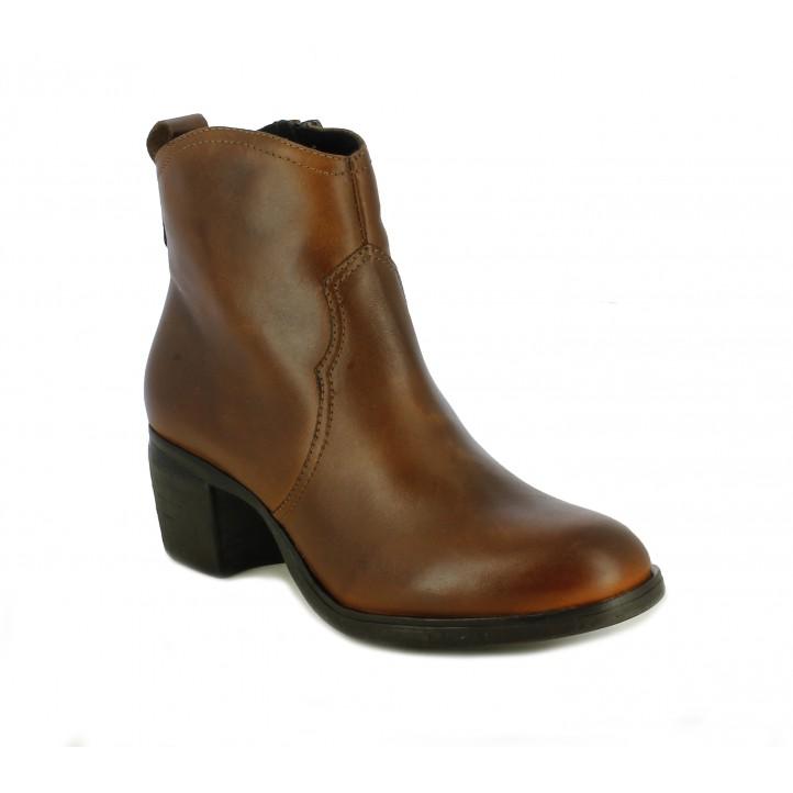 Botins Redlove marrons estil cowboy - Querol online