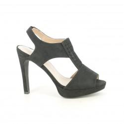 Zapatos tacón Maria Mare negros de antelina con plantilla de piel - Querol online