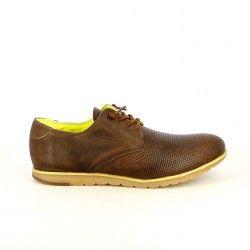 Zapatos vestir Cetti marrones de piel con cordones elásticos - Querol online