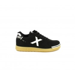 Zapatillas deporte MUNICH g3 negras con logotipo en blanco