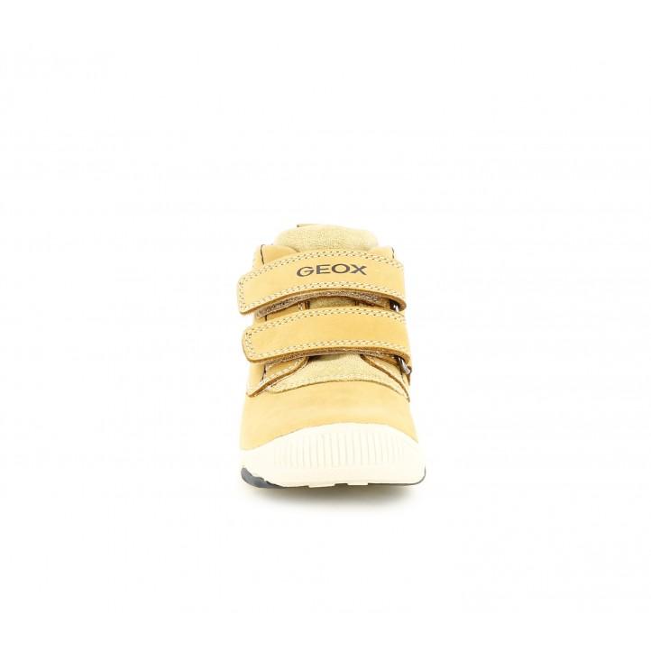 Botins Geox marrons amb dos velcros i plantilla de pell - Querol online
