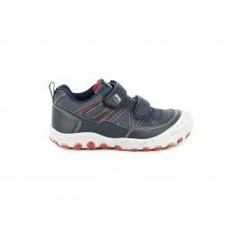Zapatos Gioseppo azul marino con dos velcros y costuras rojas - Querol online