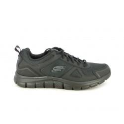 Zapatillas deportivas Skechers negras con cordones - Querol online