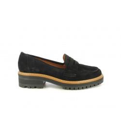 Zapatos planos Redlove negras serraje engrasado - Querol online