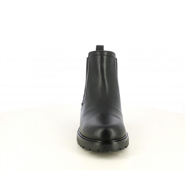 Botines Redlove chelsea negro de piel con elastico - Querol online