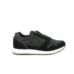 Zapatillas deportivas Le Coq Sportif negro con adornos de cuero sintético, cordones negros con hilo plateado - Querol online