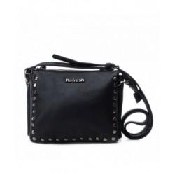 Complementos Refresh negro con tachas decorativas y cierre con cremallera - Querol online