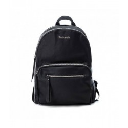 Complementos Refresh mochila negra con diferentes compartimentos con cremalleras - Querol online