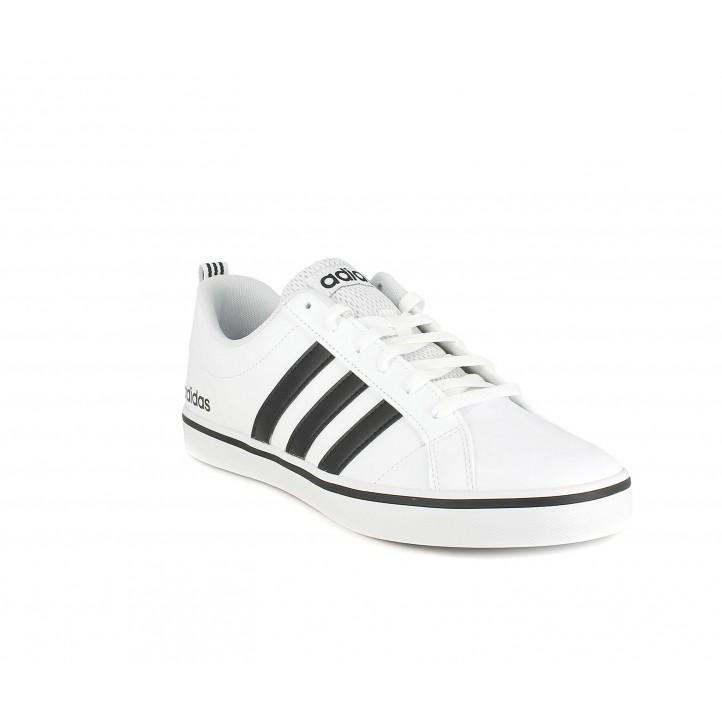 Zapatillas deportivas Adidas vs pace blancas con franjas negras - Querol online