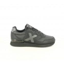 Zapatillas deportivas MUNICH dash kid negras con acabado metalizado - Querol online
