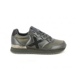 Zapatillas deportivas MUNICH dash kid verdes, grises y negras con acabado metalizado - Querol online