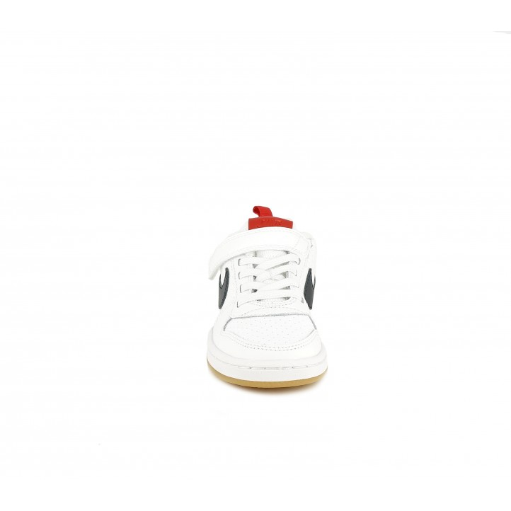 Zapatillas deporte Nike blanca, azul y roja - Querol online