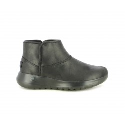 Botines Skechers negra forro interior de tejido suave, parte superior resistente al agua - Querol online