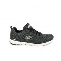 Zapatillas deportivas Skechers gris jaspeado con cordones y plantilla memory foam - Querol online