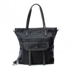 Complementos Refresh negro con bolsillo y tachuelas, tira regulable - Querol online