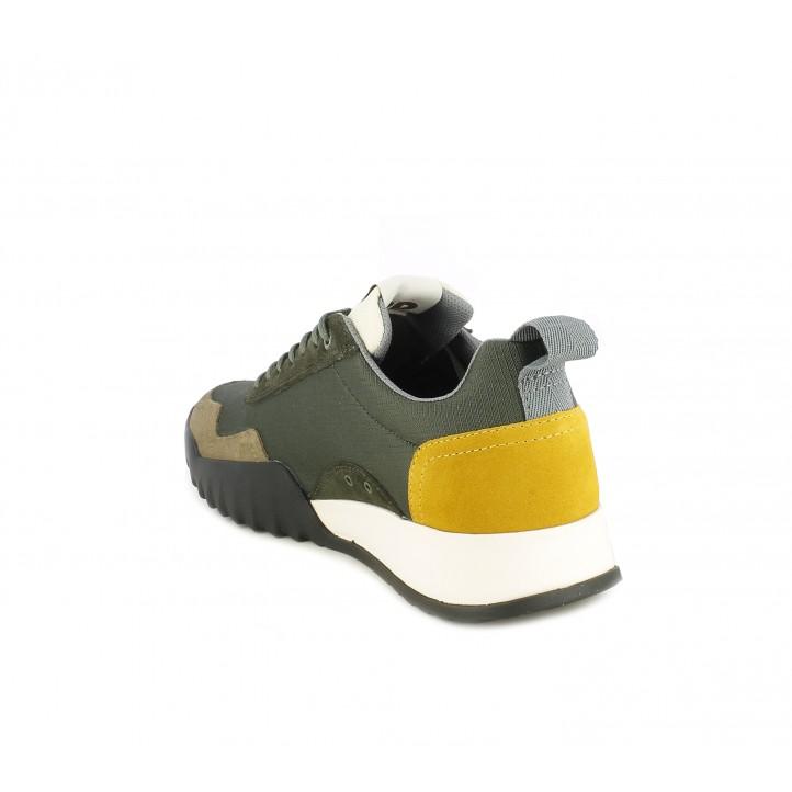 Zapatillas deportivas G-Star RAW kakis y marrones con suela de caucho - Querol online