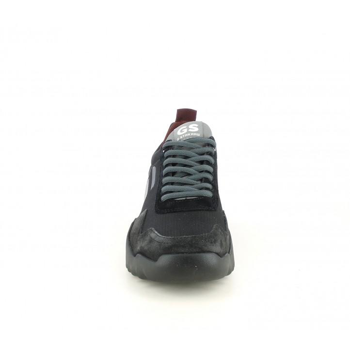 Sabatilles esportives G-Star RAW negres i grises con suela de caucho - Querol online