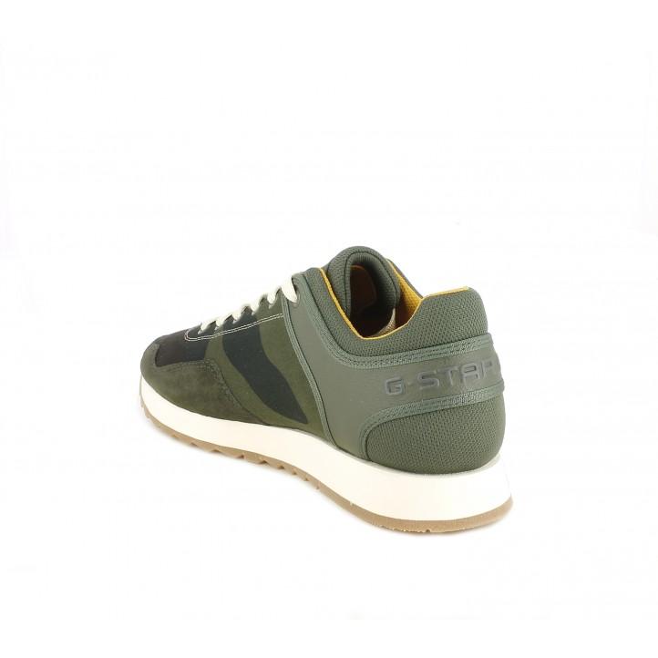 Zapatillas deportivas G-Star RAW kaki con dibujo militar - Querol online