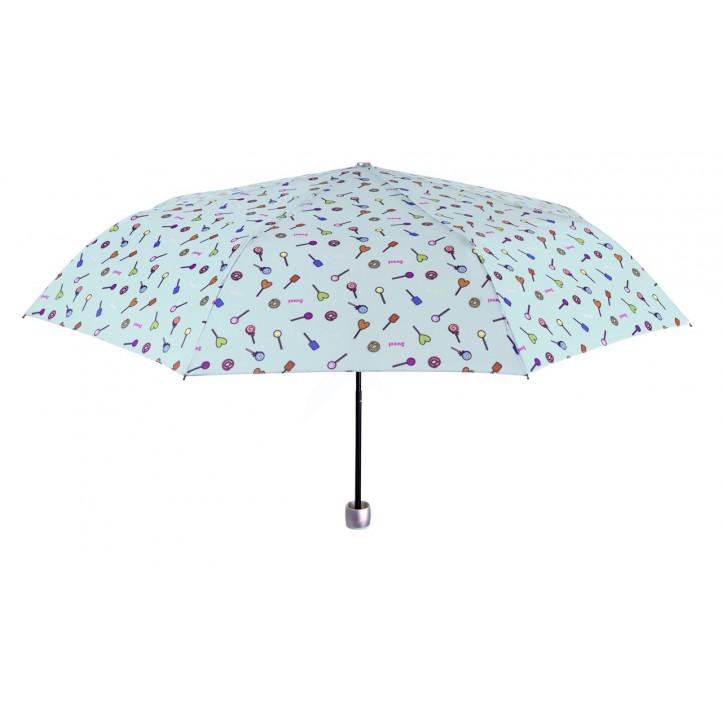 Complementos PERLETTI paraguas verde con estampado de dibujos - Querol online