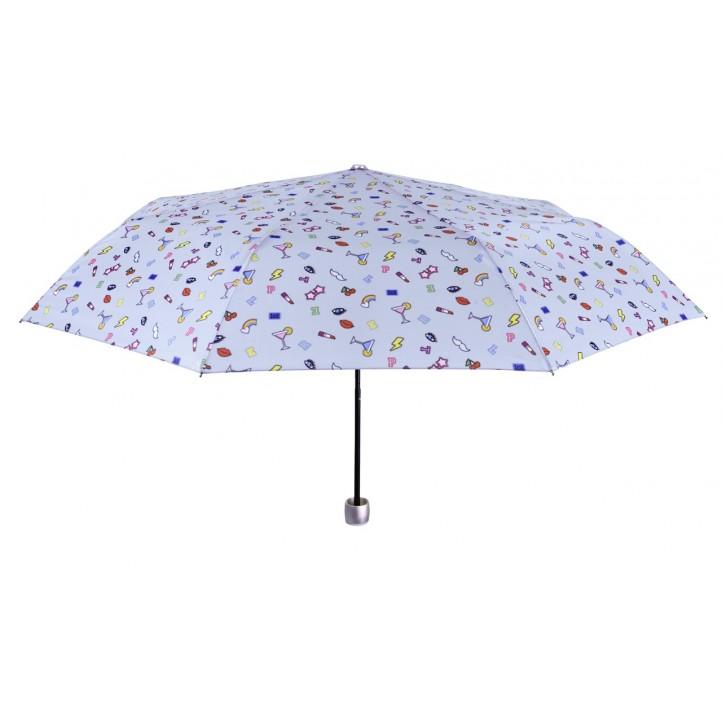 Complementos PERLETTI paraguas gris con estampado de dibujos - Querol online