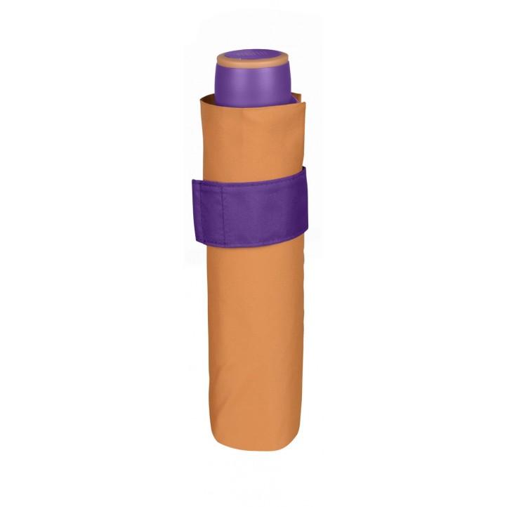 Complementos PERLETTI paraguas naranja y lila - Querol online