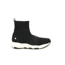 Botins Gioseppo negres amb teixit elàstic sola de goma i plantilla memory foam - Querol online